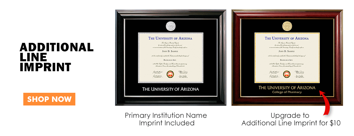 Additional Line Imprint Diploma Frame