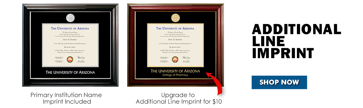 Shop for an imprinted university diploma frames