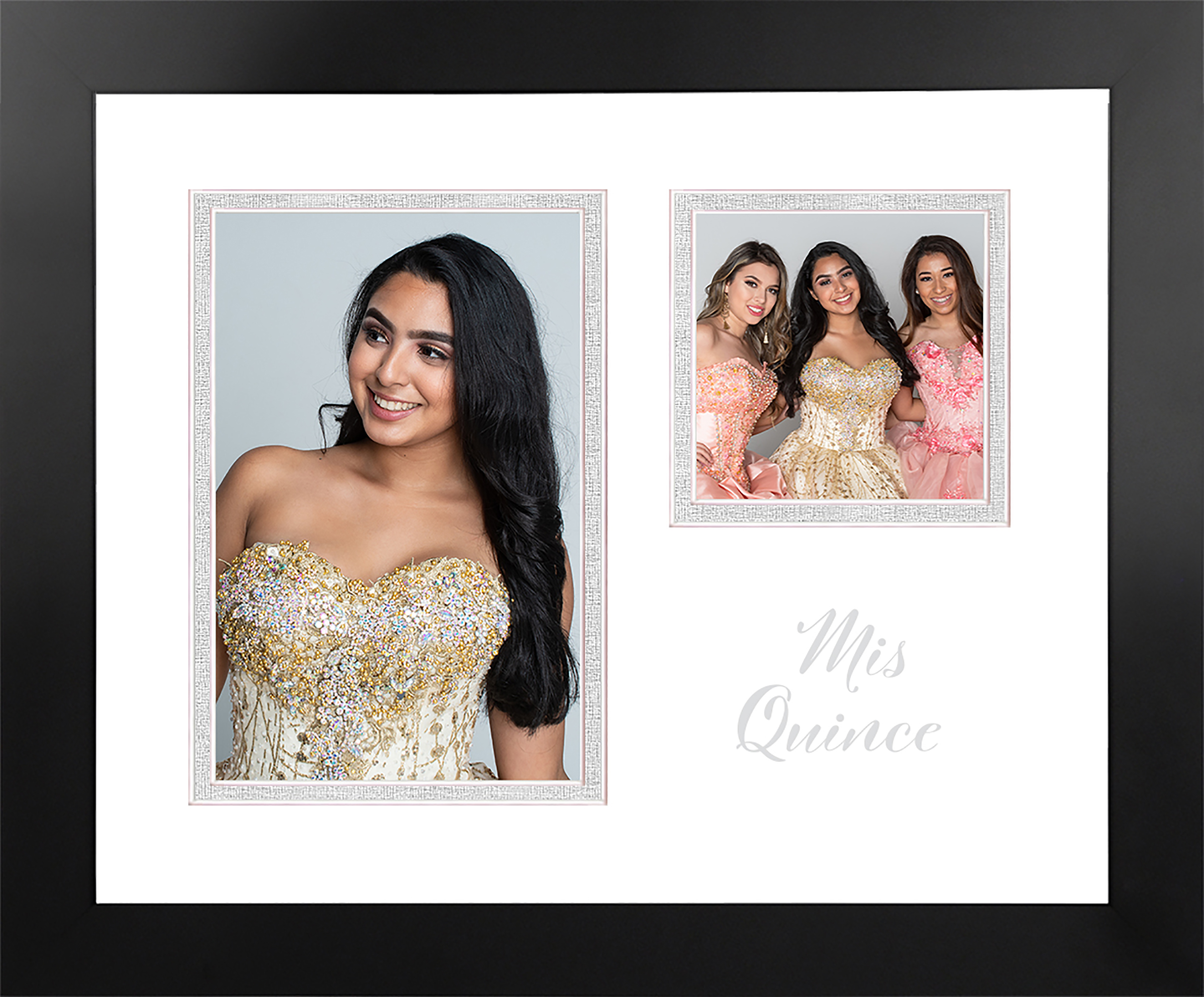 Mis Quince Photo Frame Silver Imprint