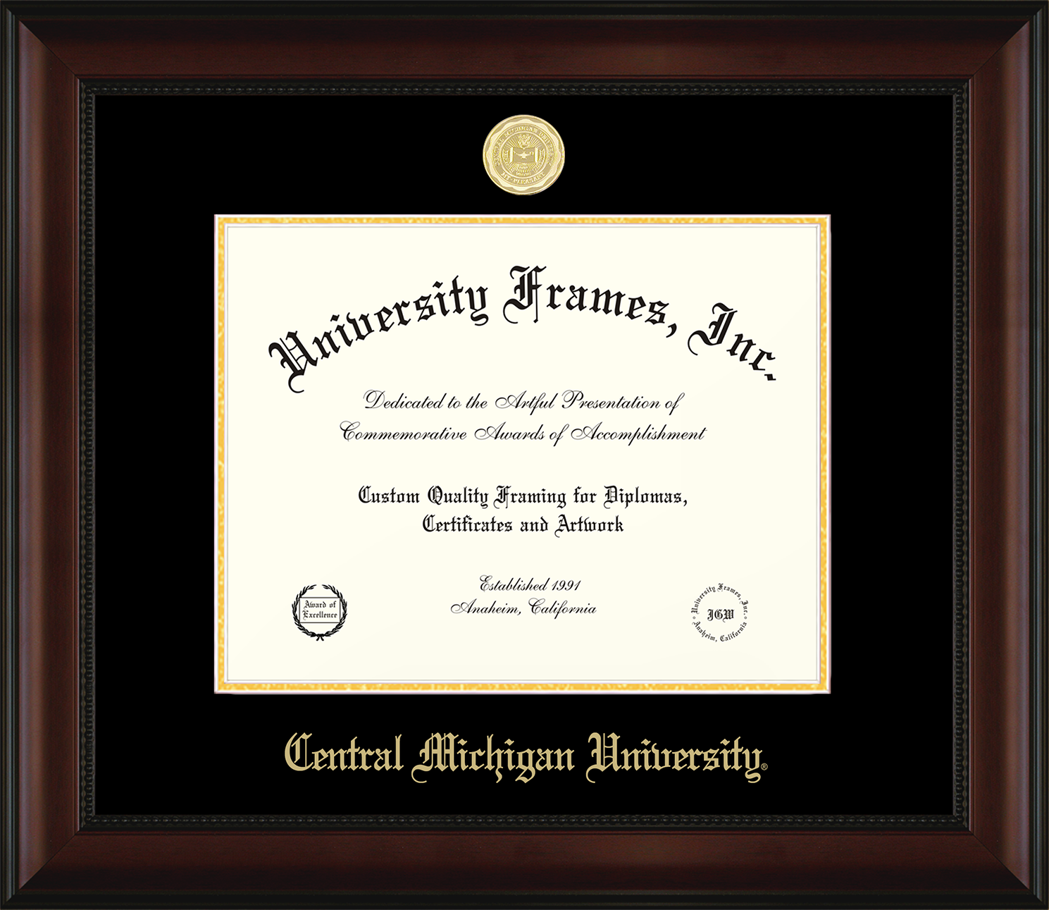 Custom Made Wood Diploma Frames-University Frames