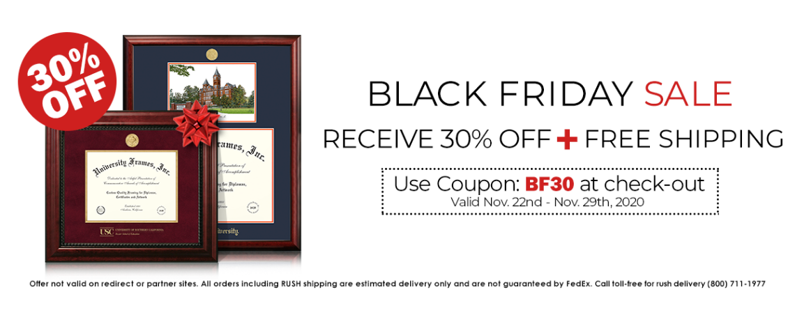 Save with Our Black Friday Sale: Get 30% OFF on Diploma and Logo Mat Frames