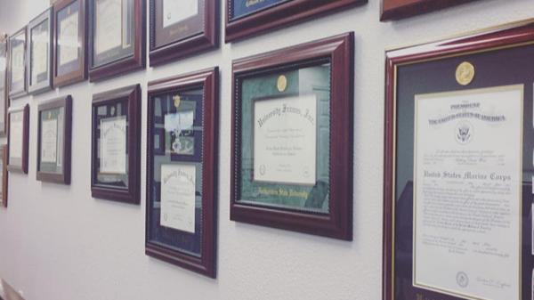Diploma Frame wall