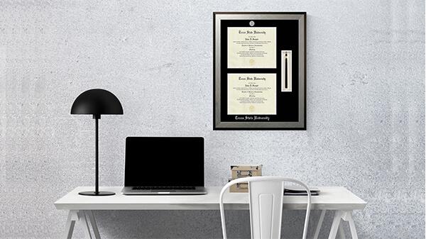 Displaying Double Diploma Frame