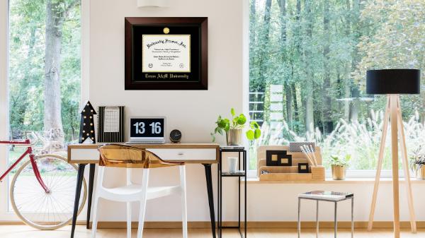 Diploma frame hang on wall