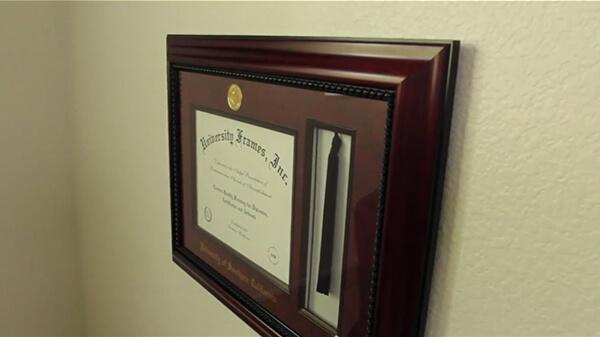 Hang Diploma Frame Step 10