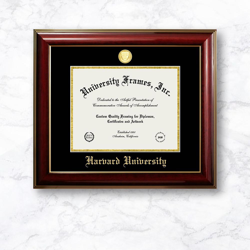 executive frame gold fillet with black suede mat