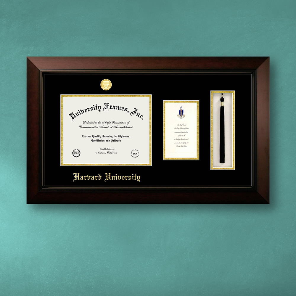 harvard-university-diploma-with-announcement-tassel-box-frame-in-legacy-black-cherry-with-black-gold