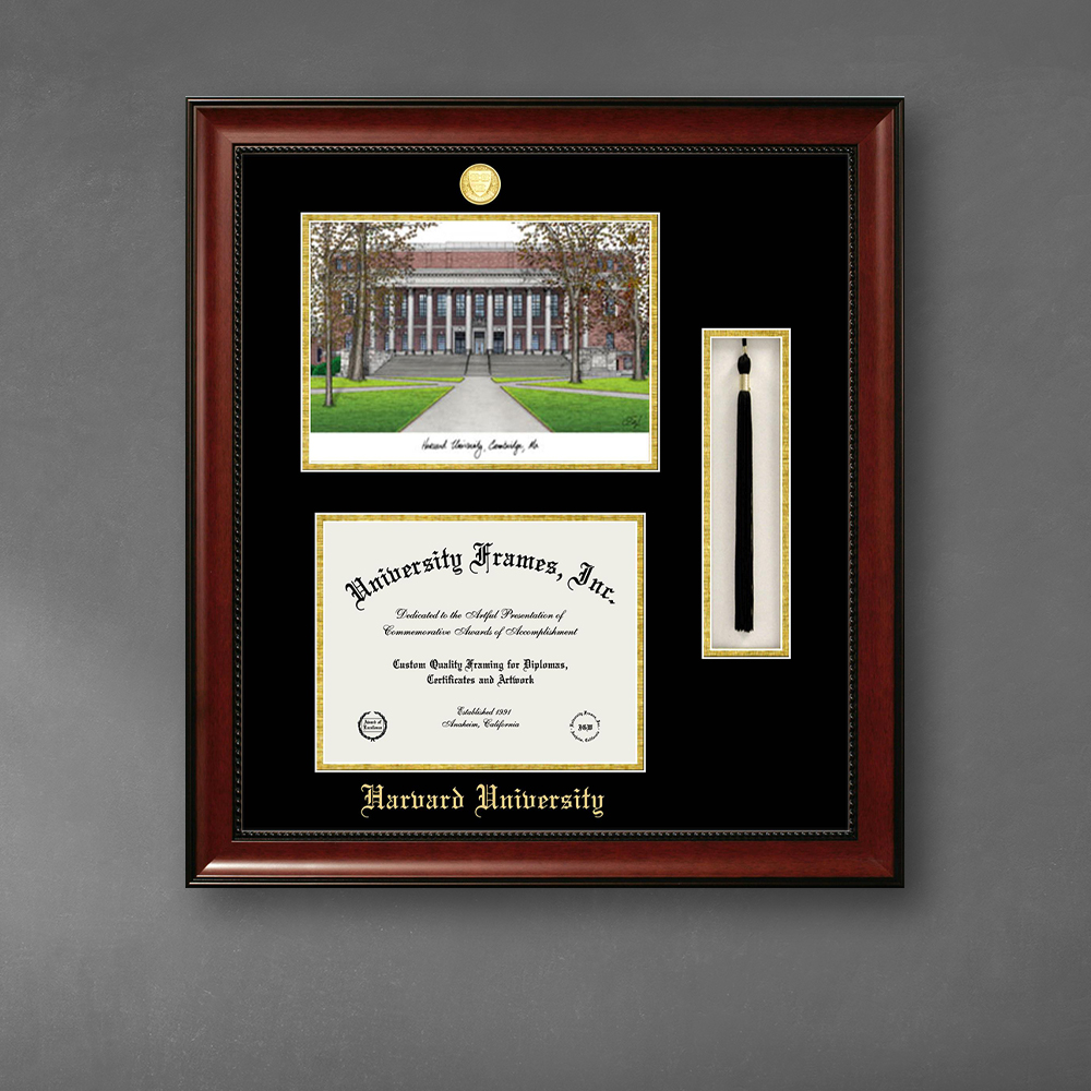 harvard-university-double-opening-with-campus-image-tassel-box-stacked-frame-in-avalon-mahogany-with-black