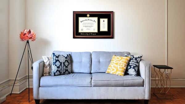 Professionally Framed Diploma Frame