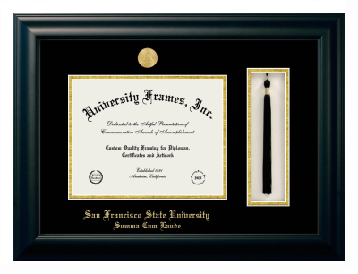 San Francisco State University Summa Cum Laude Diploma Frame University Frames
