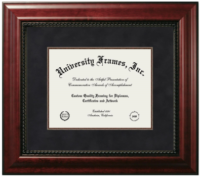 Unimprinted Mat Diploma Frame in Executive with Gold Fillet with Black Suede Mat
