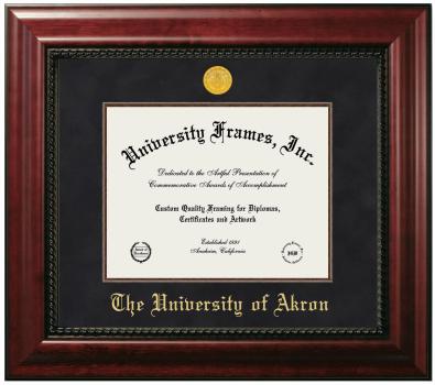 University Of Akron Diploma Frame University Frames